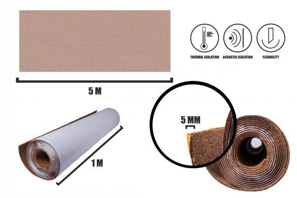 Rolka korkowa samoprzylepna 5mm